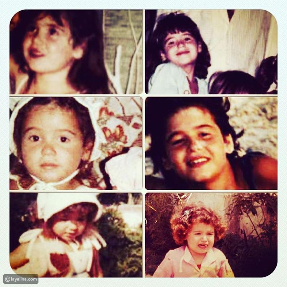 هنا شيحة تنشر صورة مجمعة لمراحل طفولتها.. شاهدوا كم كانت طفلة جميلة