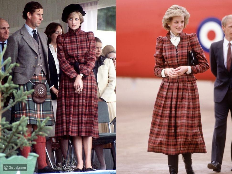 بدلة بنقش الكاروهات من دار أزياء كارولين تشارليز