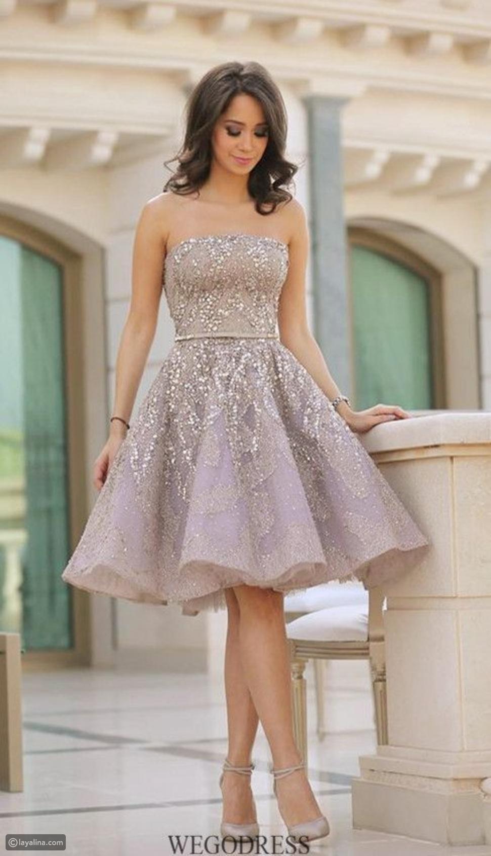 فستان قصير منفوش