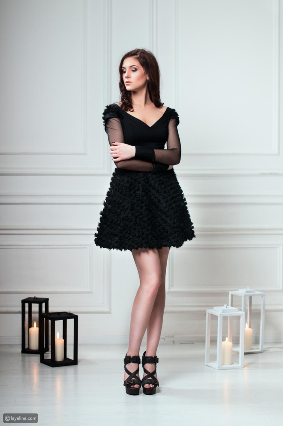 فستان أسود قصير