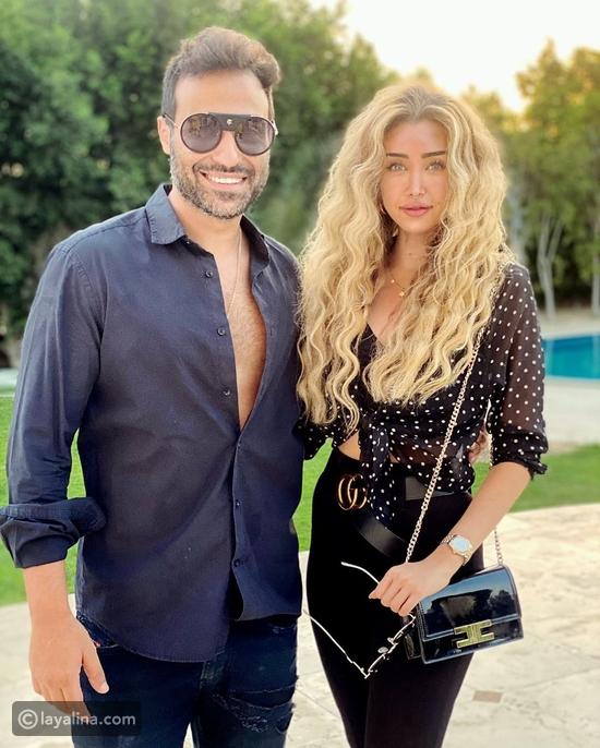 هنا الزاهد وزوجها أحمد فهمي في عقد قران إسراء العدل