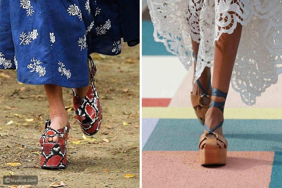 أحذية عالية الكعب مكتنزةPlatforms