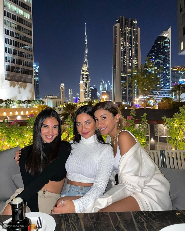 صور احتفال عمرو دياب ودينا الشربيني بالعام الجديد في دبي تثير الجدل