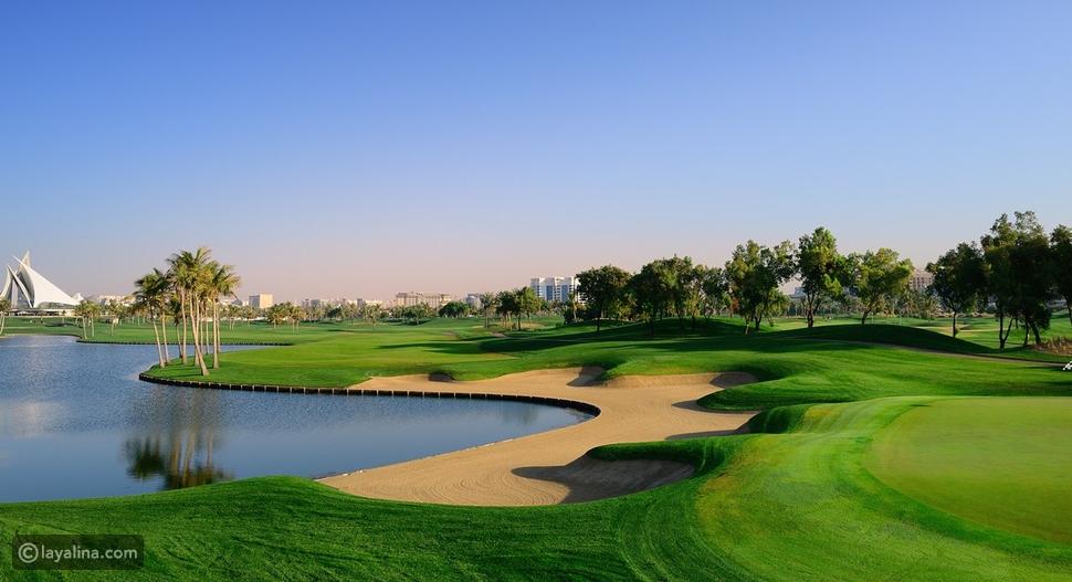 الجولف في دبي