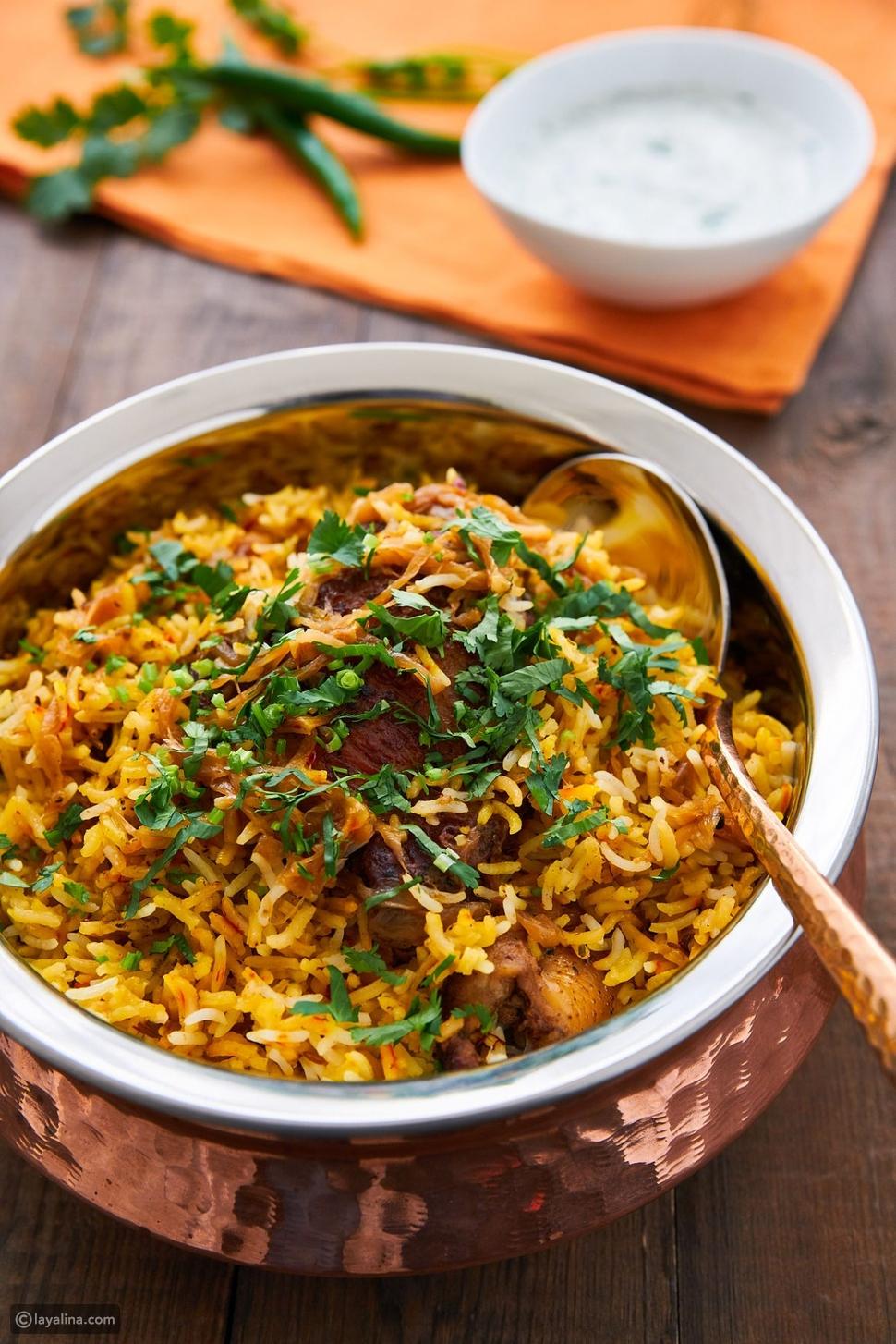 طريقة البرياني بالدجاج الهندي