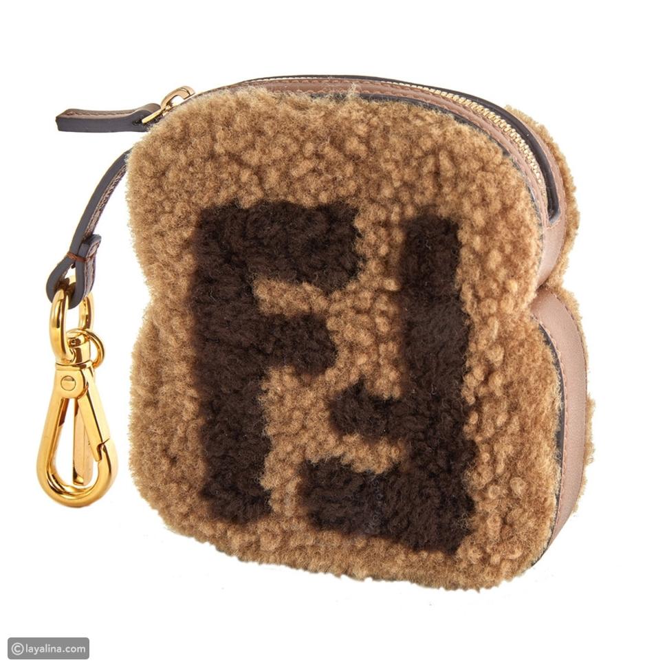حقيبة Fendi FF Shearling Toast Charm