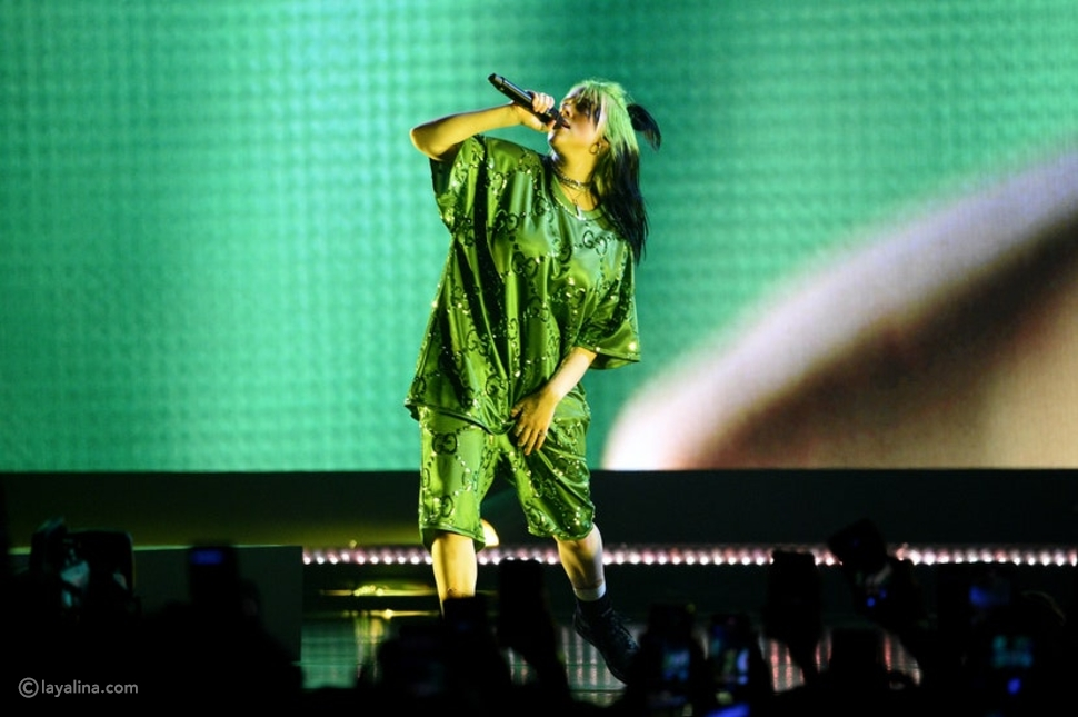 إطلالة Gucci باللون الأخضر