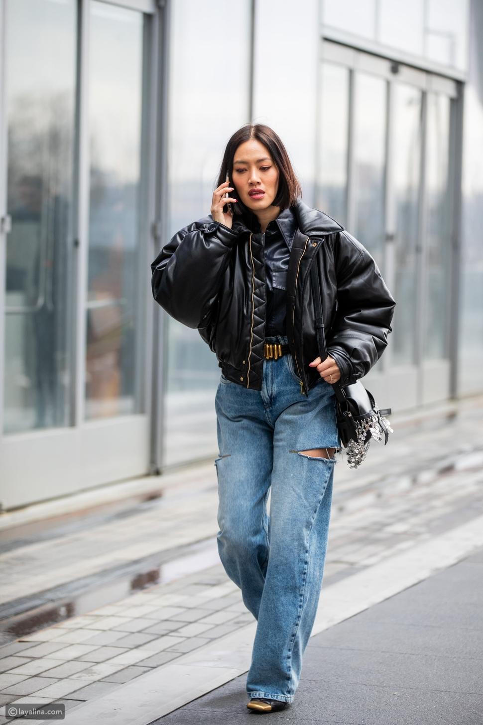 ارتديالجينز الواسع بنمطSkater Jeans بدلاً الفضفاض Pleated Jeans