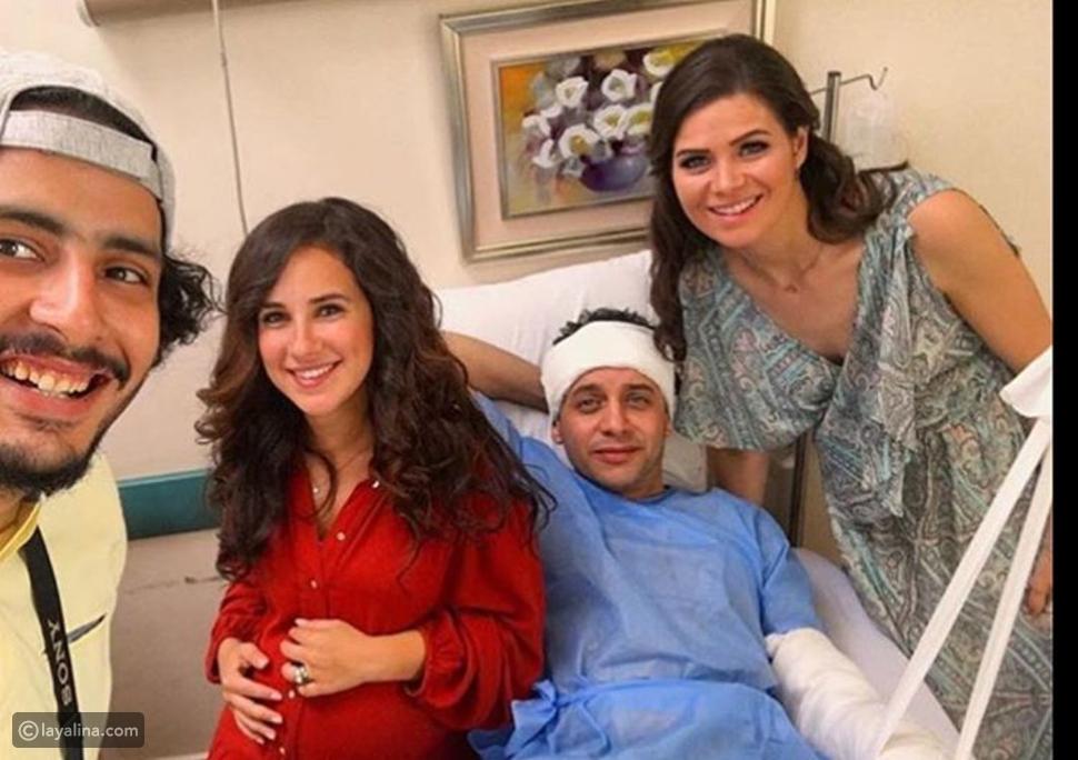 صور إصابات بالجملة لمصطفى قمر وزيارة خاصة من شيري عادل ويسرا اللوزي