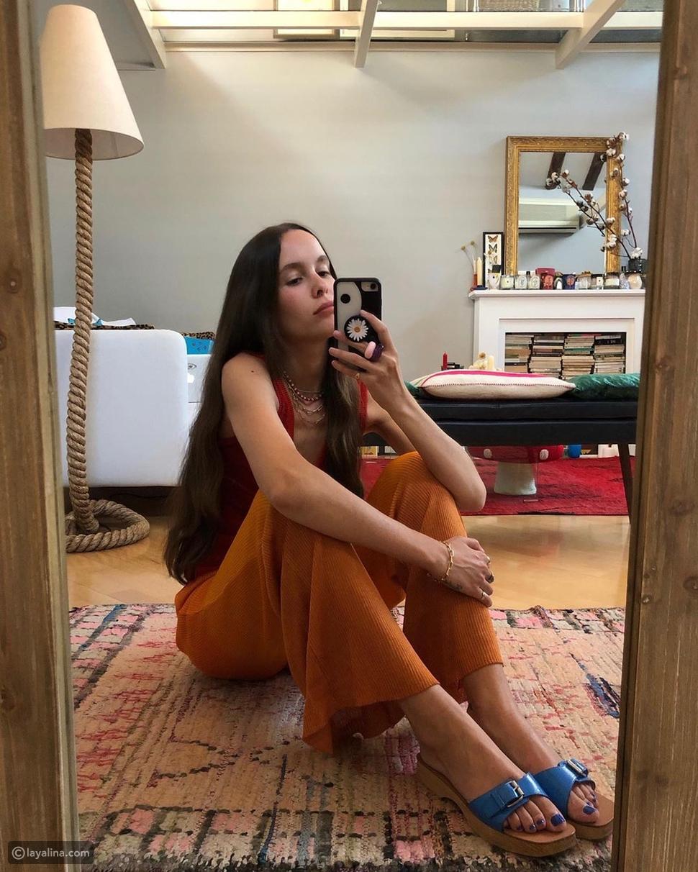 أحذية خشبية مسطحة