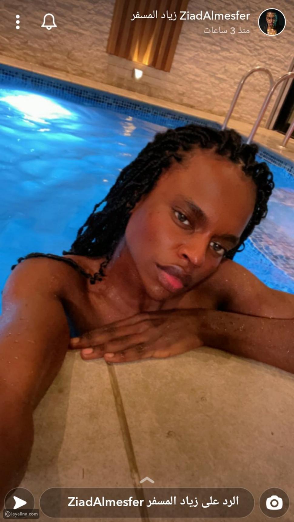 زياد المسفر يثير الجدل بظهوره في حوض السباحة