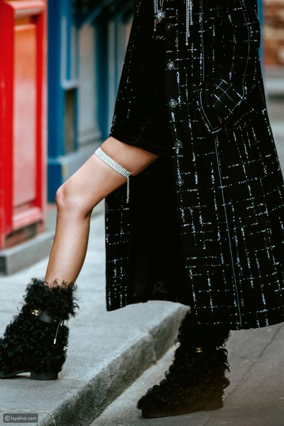 حذاء الثلوج من شانيل
