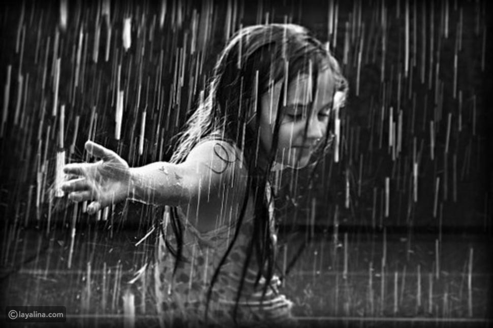 سقوط المطر في المنام