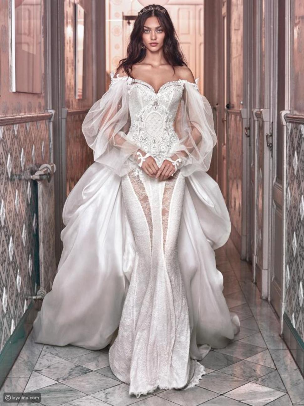 بداية ظهور فستان الزفاف الأبيض