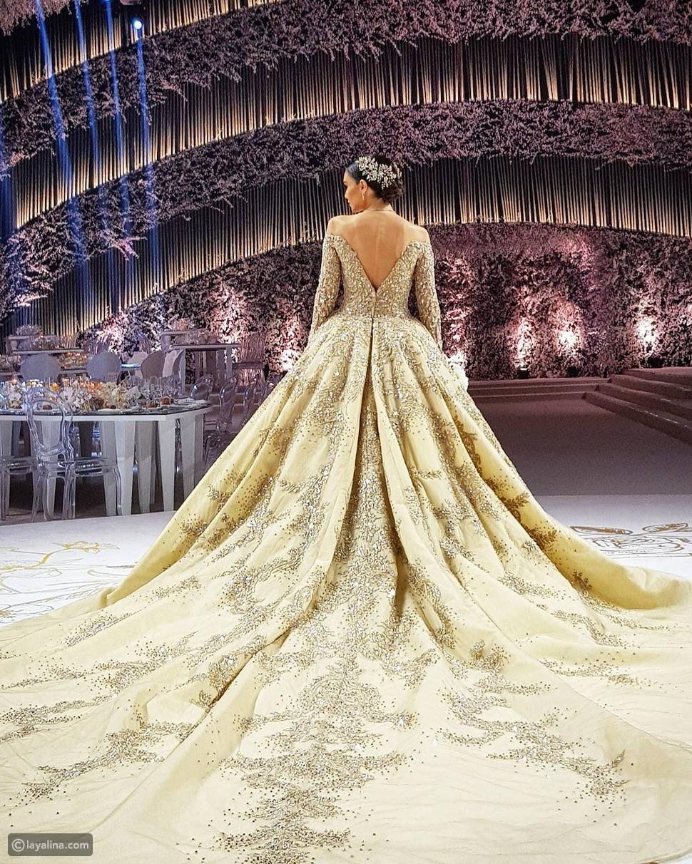 عروس لبنانية تشعل الإنترنت بفستان زفاف أسطوري من تصميم زهير مراد
