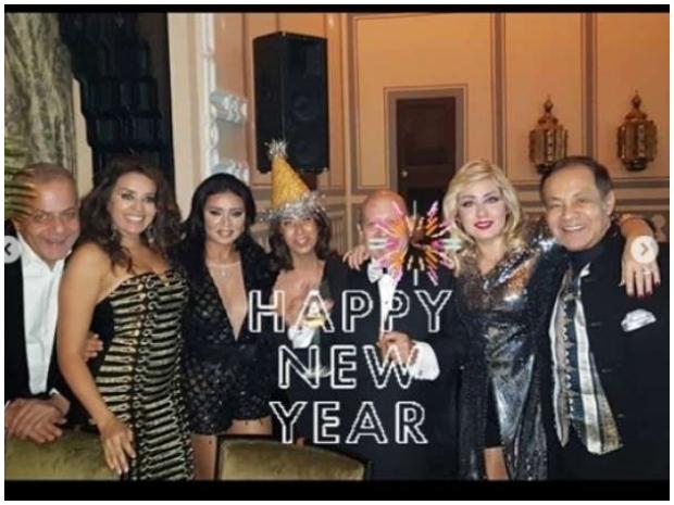 رانيا يوسف تحدث ضجة جديدة بفستان جريء ارتدته بحفل رأس السنة