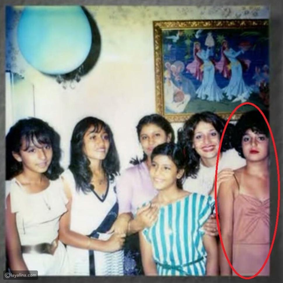 صور صادمة لغادة عبد الرازق في سن المراهقة
