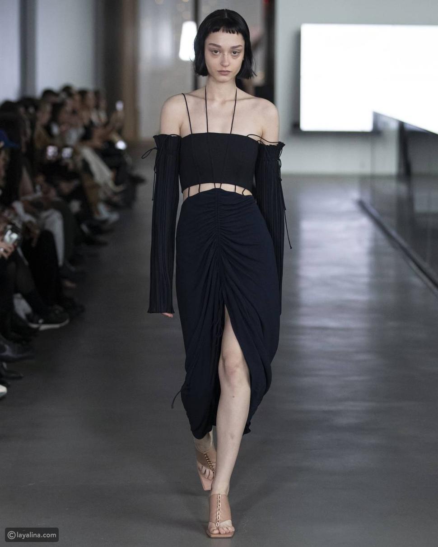فستان أسود كلاسيك غير تقليدي