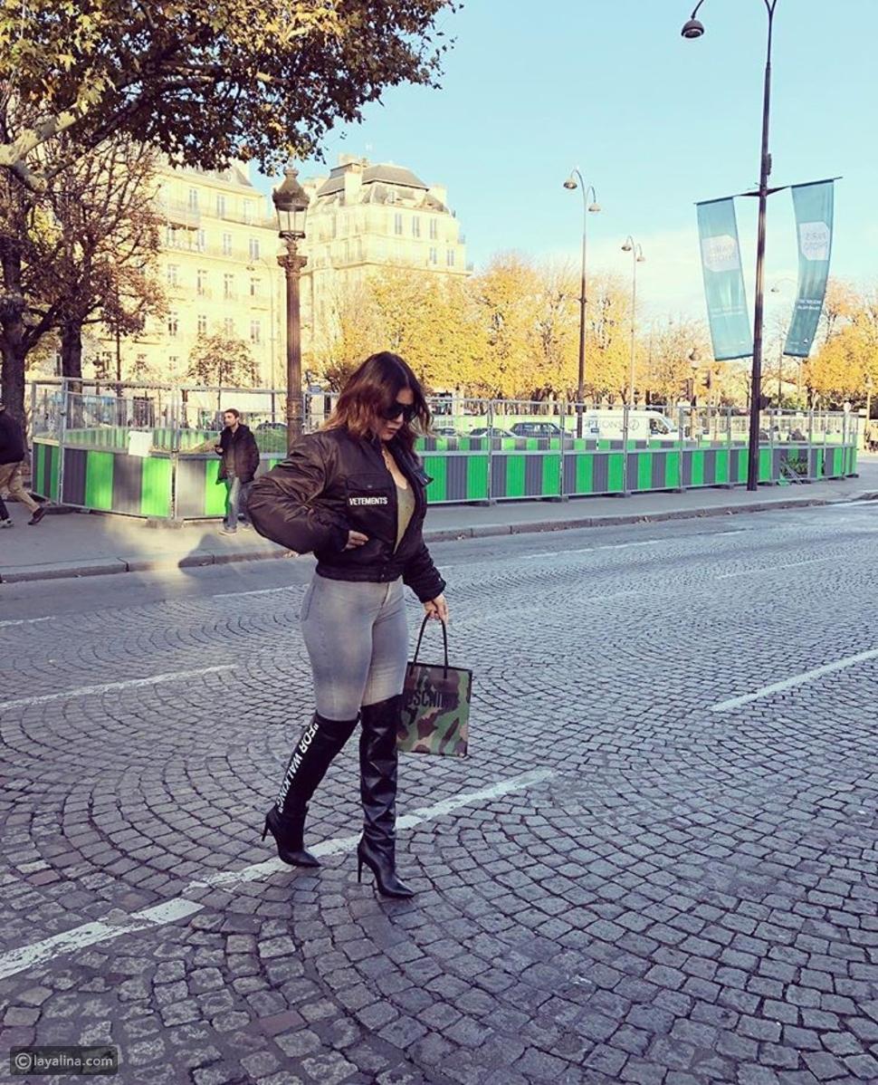 هيفاء وهبي بإطلالة كاجوال في باريس يضاهي سعرها ثمن سيارة!