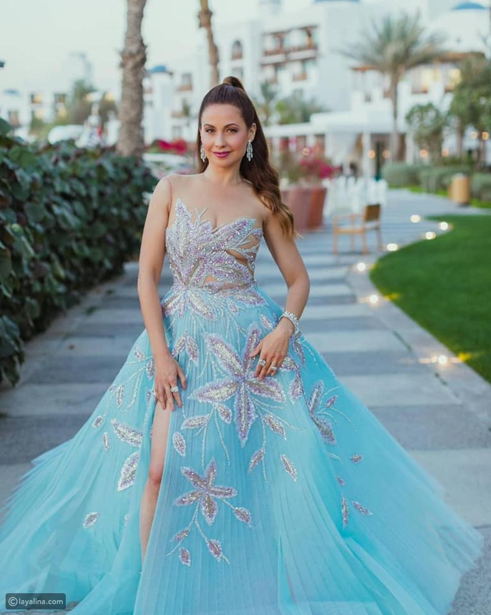 ريا أبي راشد تختار فستانا من تصميم جورج حبيقة من أجل Golden Globe