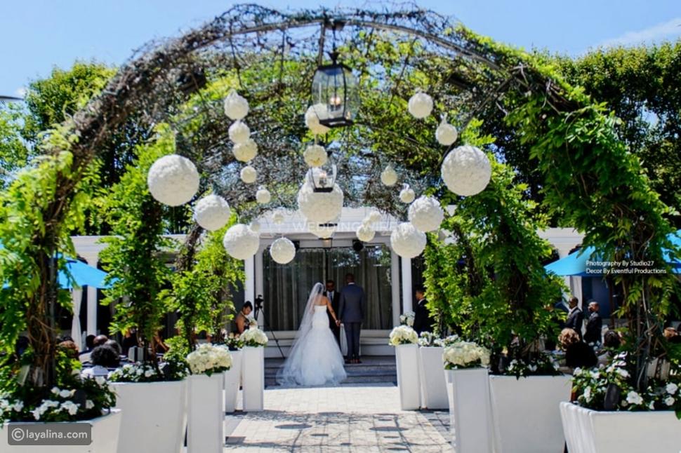 ديكور مدخل المنزل لحفل الزفاف