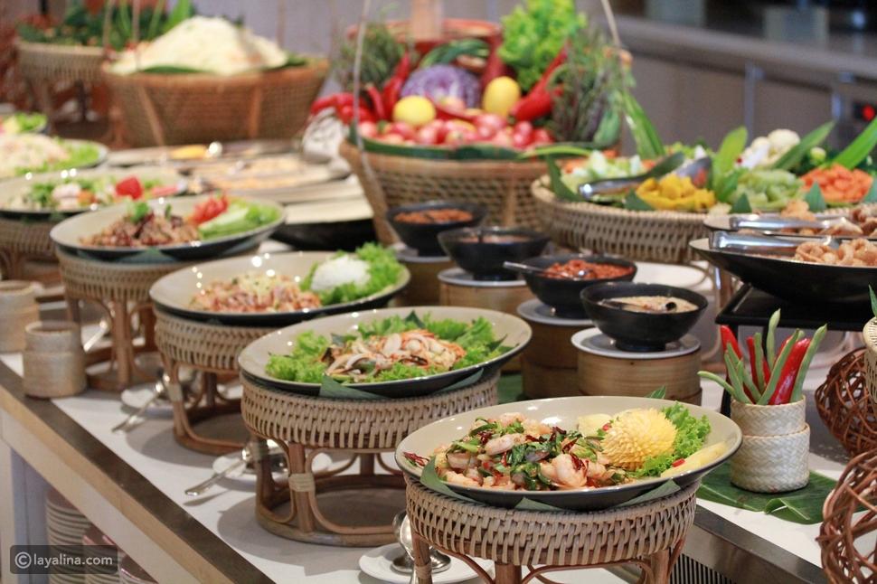 أطباق بوفيه الطعام لحفل العرس