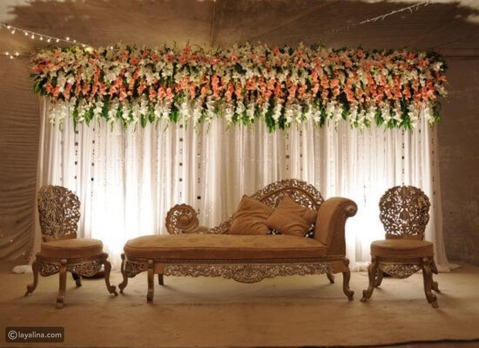 كوشة العروسين بالمنزل