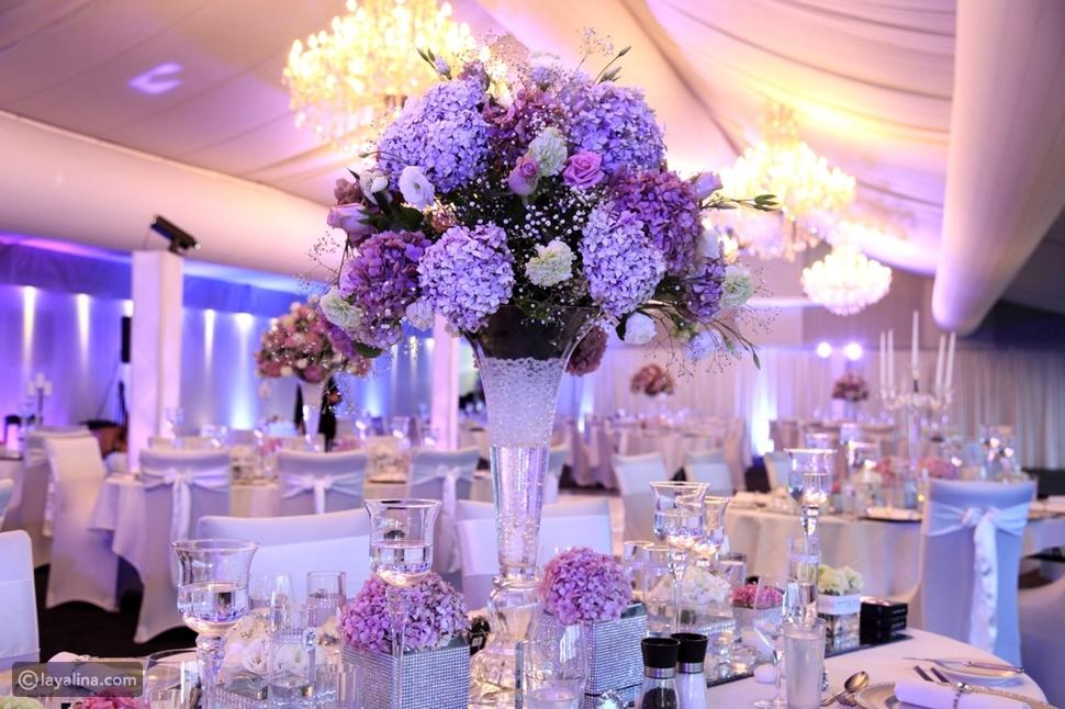 إضاءة قاعة الزفاف