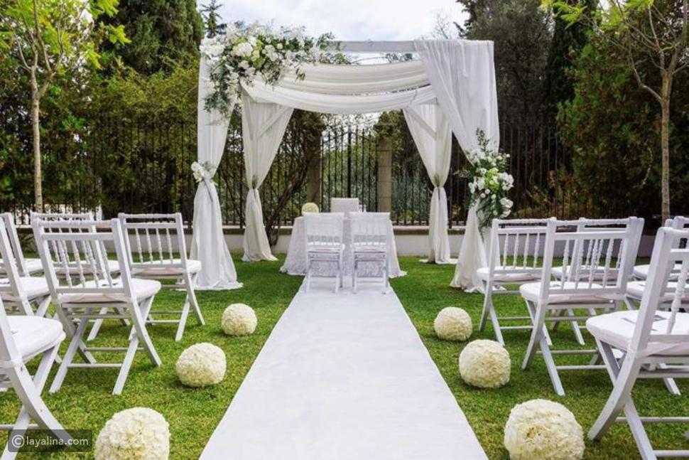 تزيين حديقة المنزل لحفل الزفاف