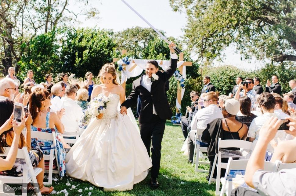 استقبال المدعوين في حفل الزفاف