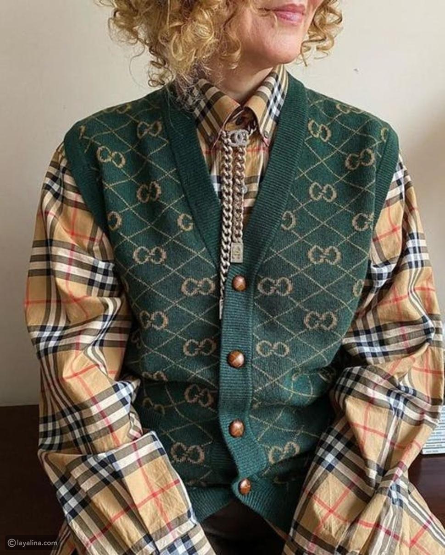 vest صوفي بطبعات