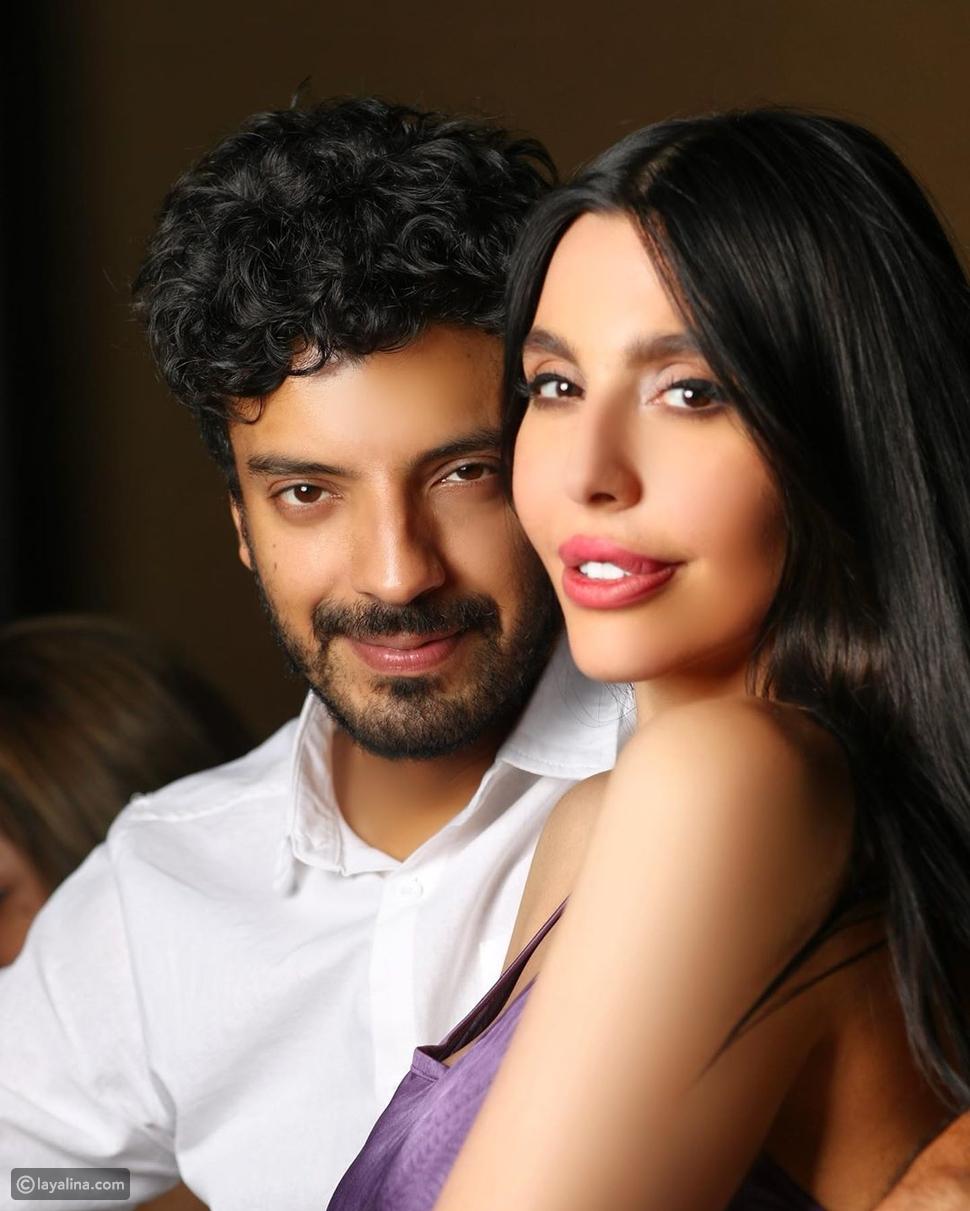 ليلى اسكندر وزوجها يعقوب الفرحان
