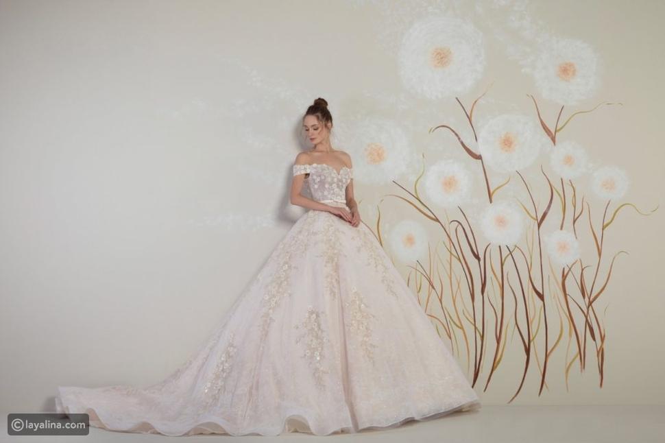 فستان زفاف بألوان الـNude
