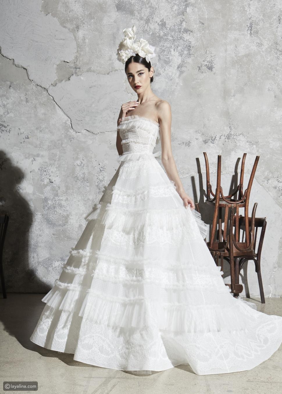 تفاصيل تقليدية للعروس العصري من مجموعة زهير مراد 2020