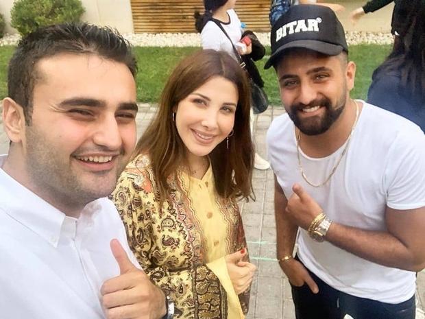 نانسي عجرم مع الشيف بوراك التركي في منزلها