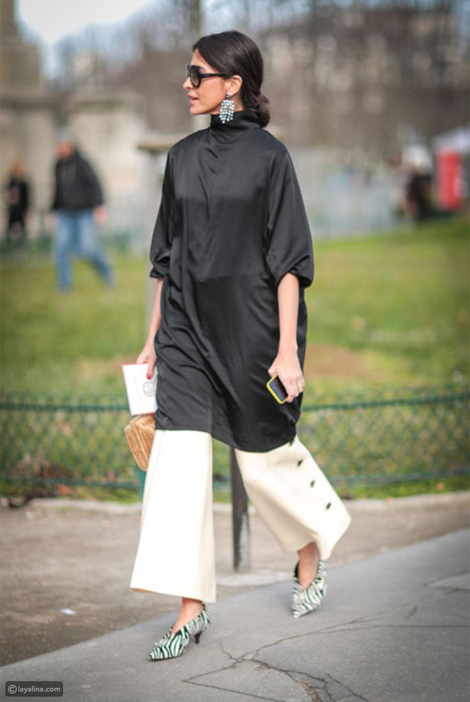 4 أفكار لارتداء الفستان فوق البنطال في هذا الصيف