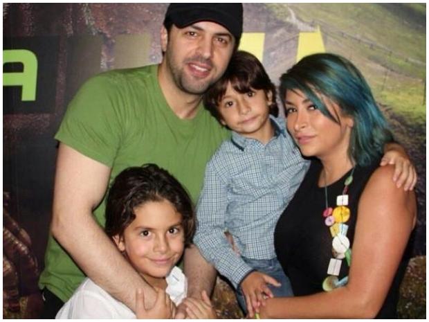 تيم حسن وزوجته الأولى ديما بياعة وطفلاهما