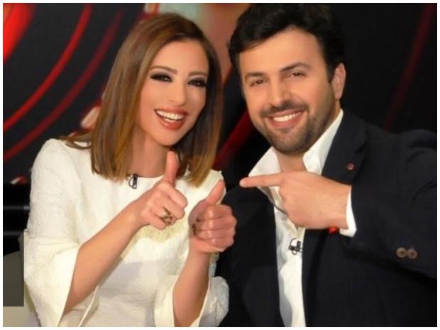 تيم حسن ضيفاً على برنامج قدمته زوجته وفاء الكيلاني قبل عرسهما