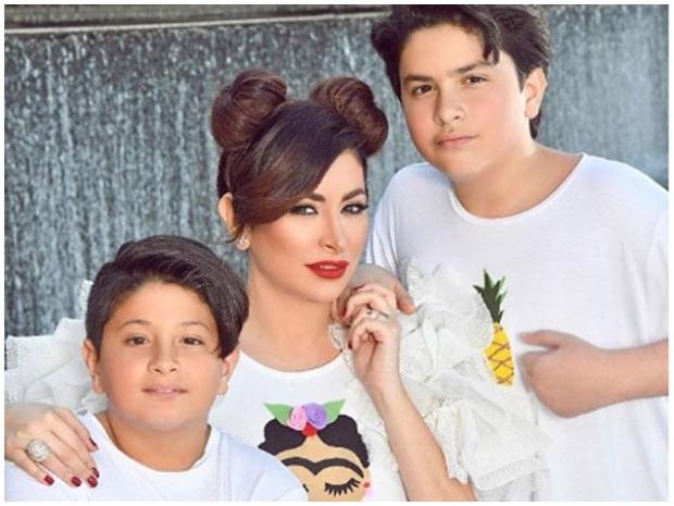ديما بياعة طليقة تيم حسن وطفلاهما