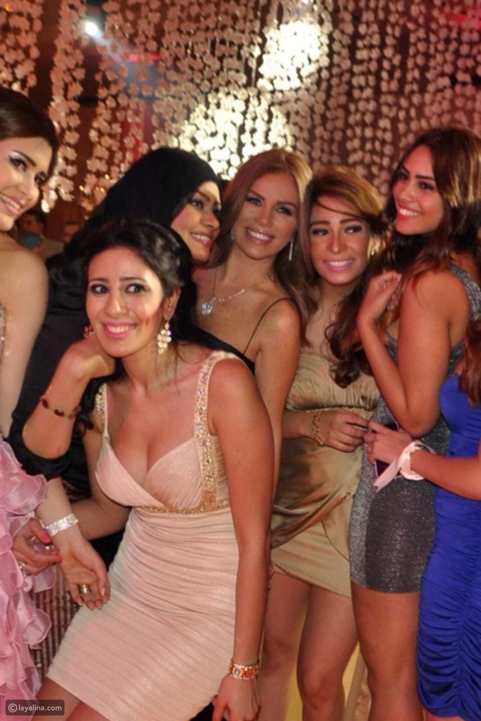 صور نيكول سابا ومحمد منير في حفل زفاف ابنة صاحب قنوات CBC