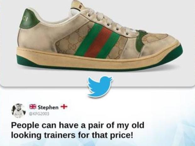 الأحذية المتسخة من غوتشي تثير الانتقادات