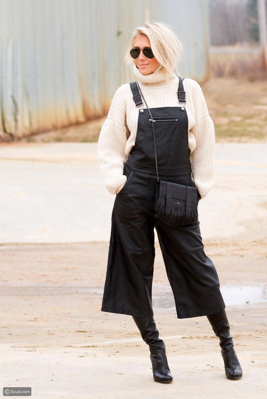 كنزة مع سالوبيت overalls