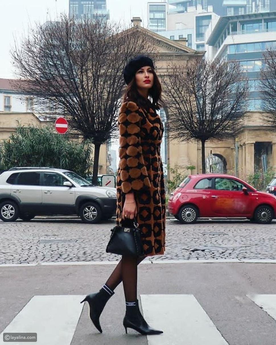 ريم السعيدي في عرض أزياء فيندي للرجال خريف 2019