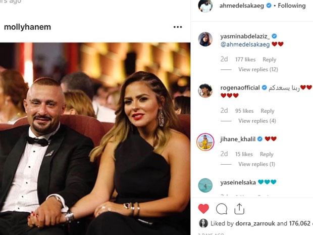 هكذا احتفل أحمد السقا بعودته لزوجته