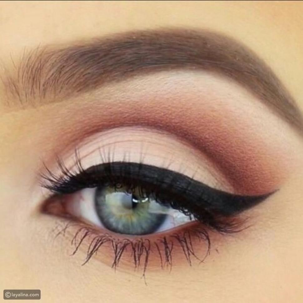 مكياج عيون فرنسي وردي