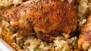 أرز في الفرن بالدجاج