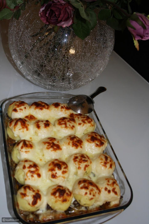 كرات البطاطس بالدجاج والبشاميل