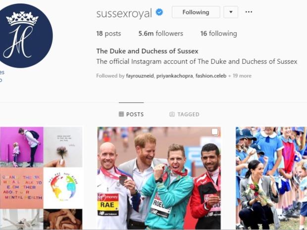 الأمير هاري وميغان ماركل يلغيان متابعتهما لجميع العائلة المالكة