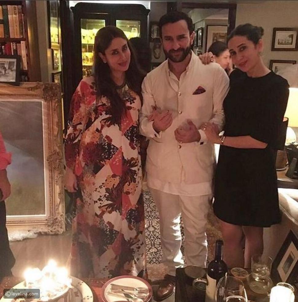 صورة كارينا كابور تحتفل بعيد ميلاد زوجها سيف خان وإطلالة حملها تحصد آلاف الإعجابات