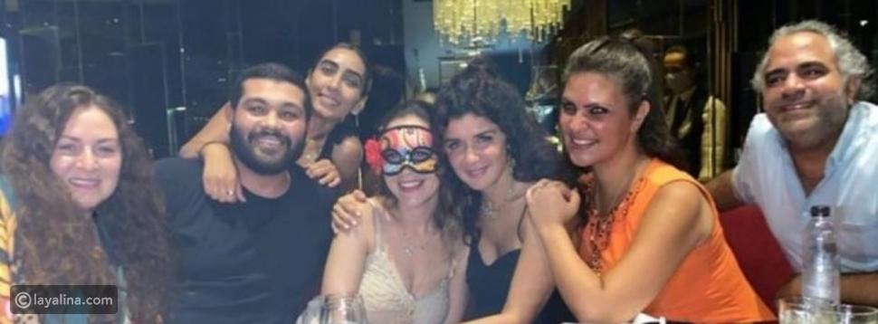 احتفال منة شلبي بعيد ميلادها